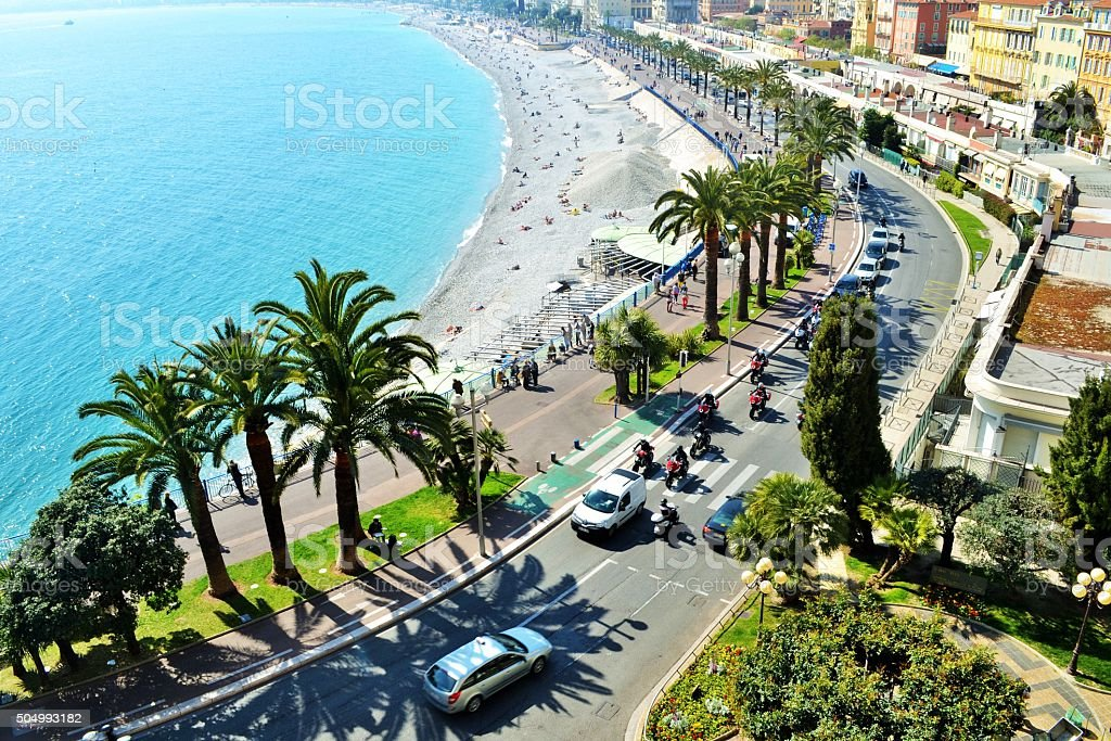 Nizza, Lungomare stock photo