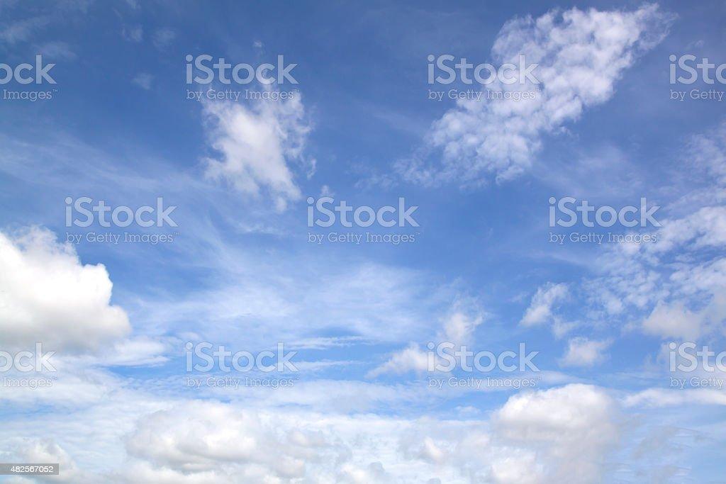 Nice white cloud on the sky stock photo
