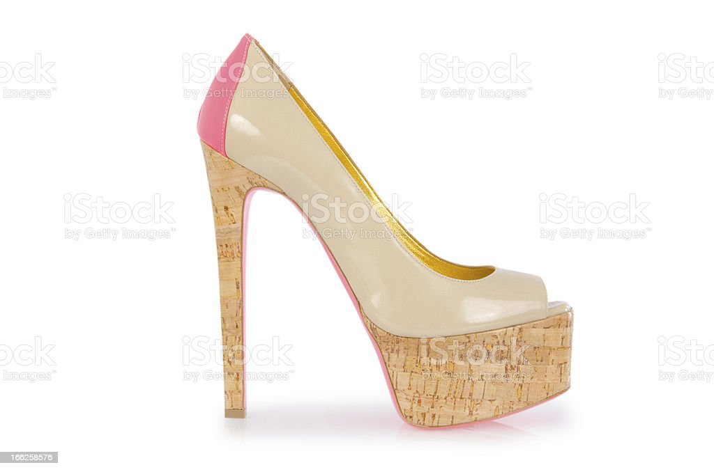 Nice woman shoes isolated on white royalty-free stock photo