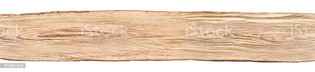 Nice wooden board on white background stock photo