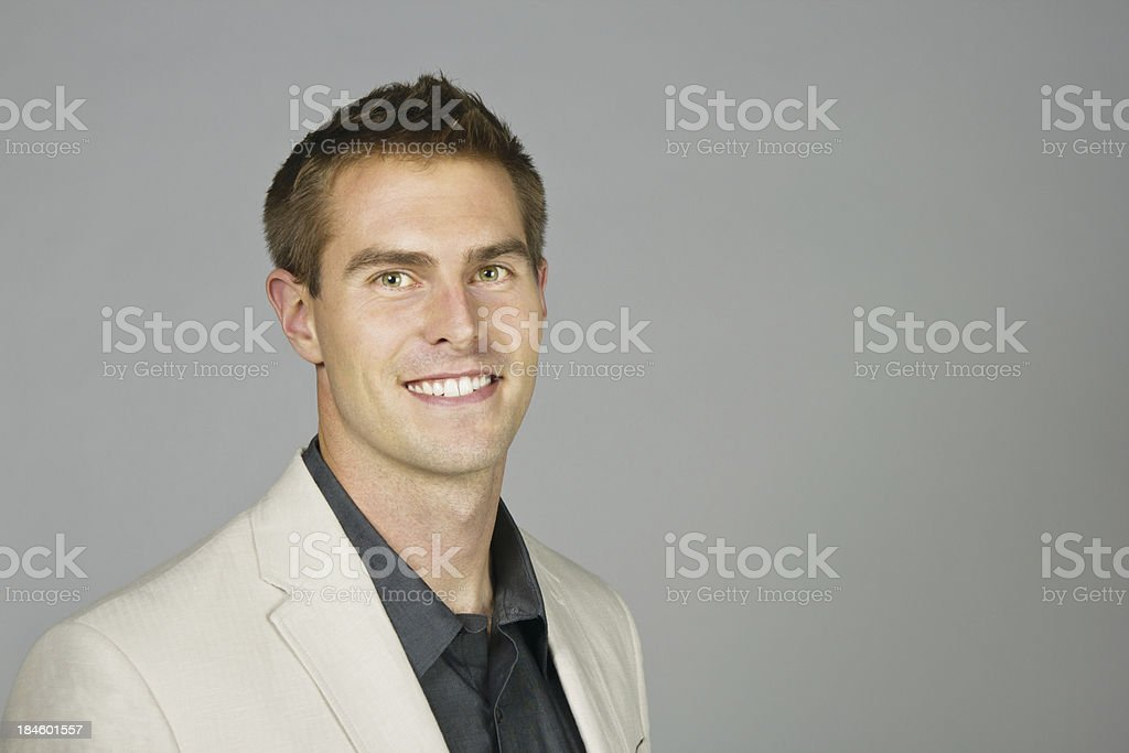 Nice Young Man Smiling at Camera royalty-free stock photo