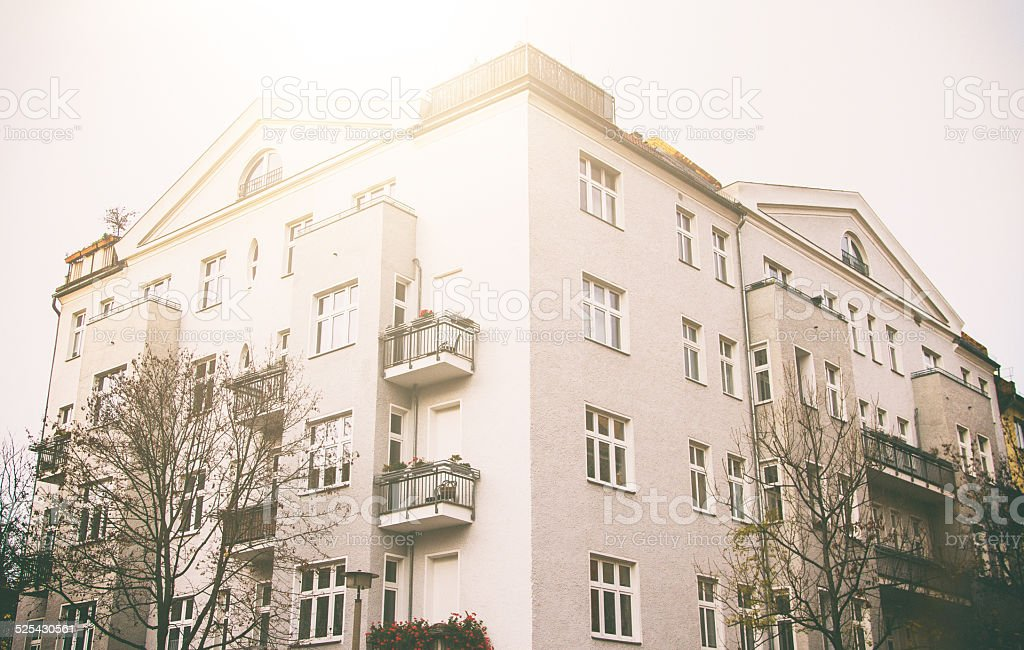 Nicely restored old townhouse in Vintagestyle - Berlin. stock photo