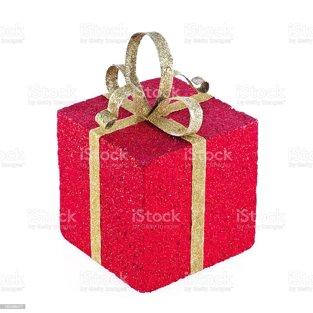 Nicely wrapped present. stock photo