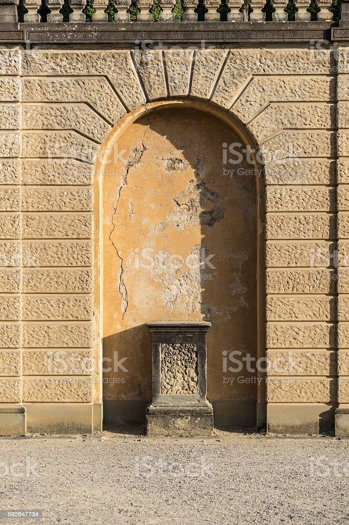 Niche for statue stock photo