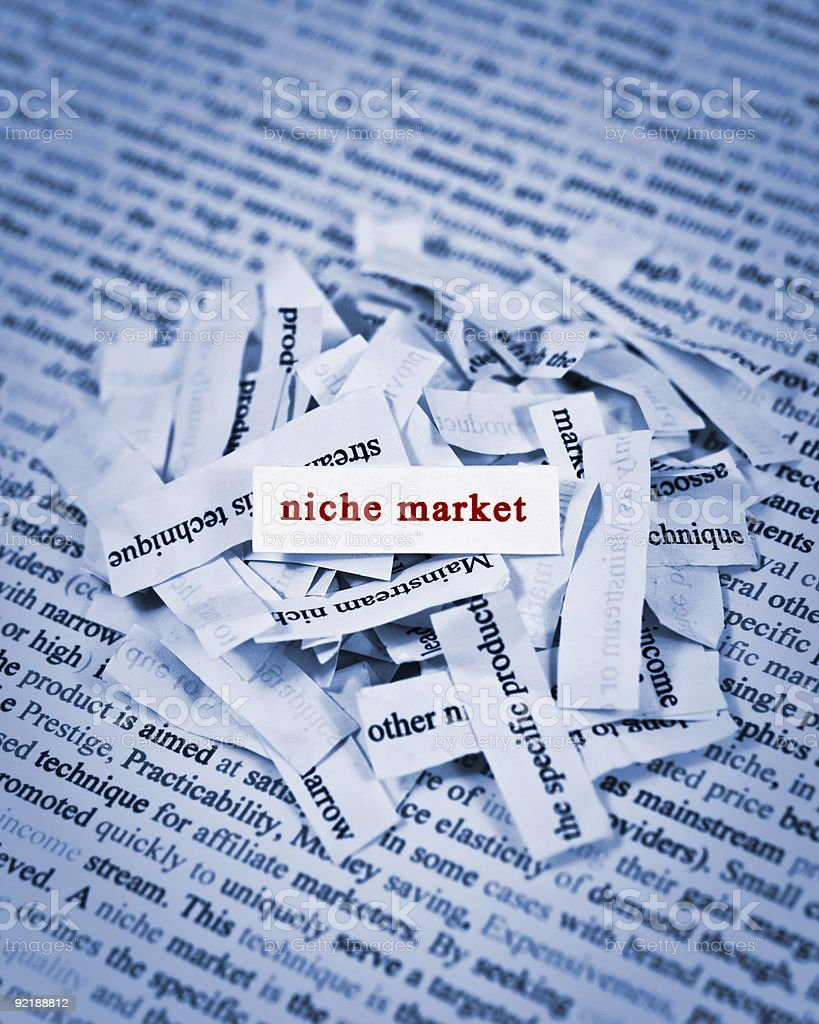 Niche Market royalty-free stock photo