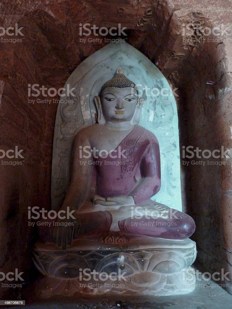 Niche with  Buddha, Pyathadar Temple, Bagan Myanmar royalty-free stock photo