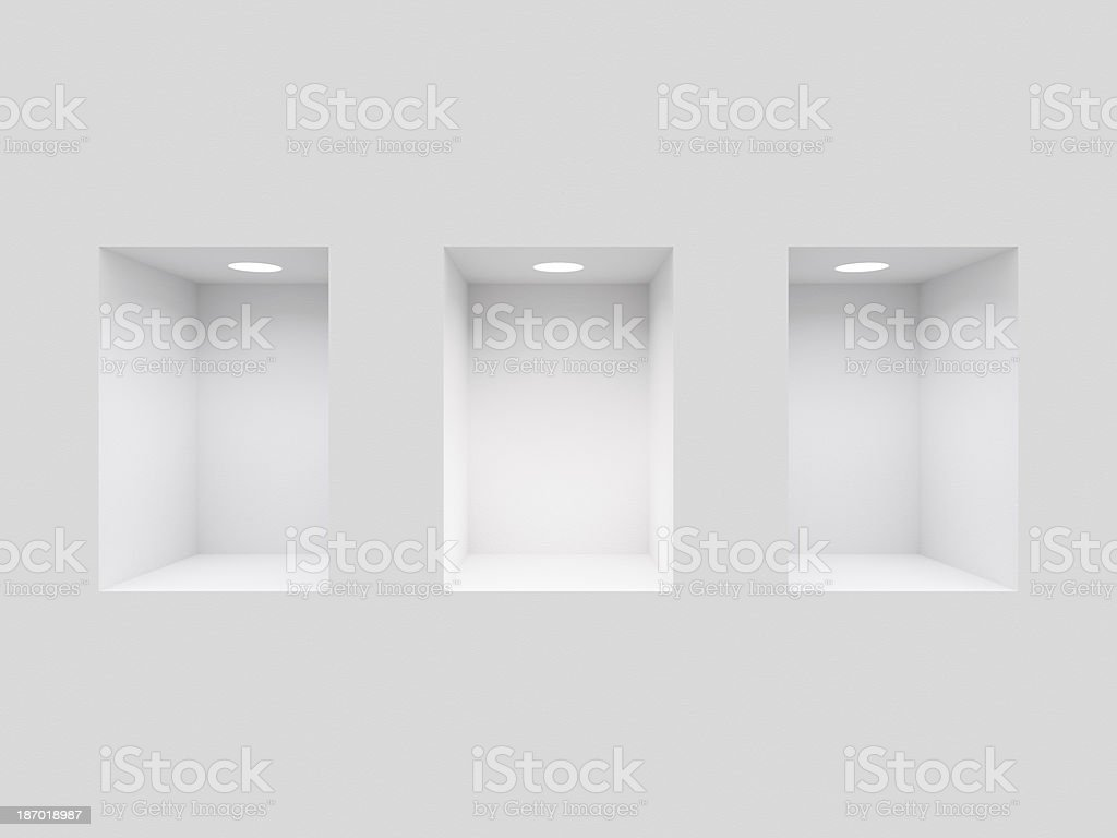 Niches in the Wall stock photo