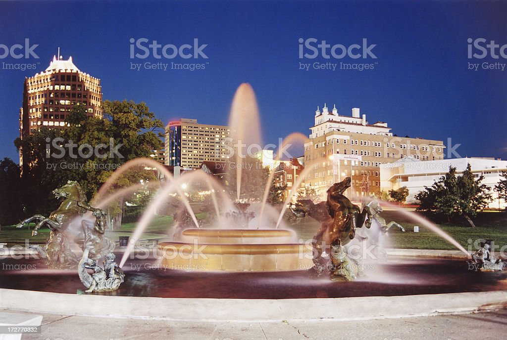 JC Nichols Fountain, Kansas City stock photo