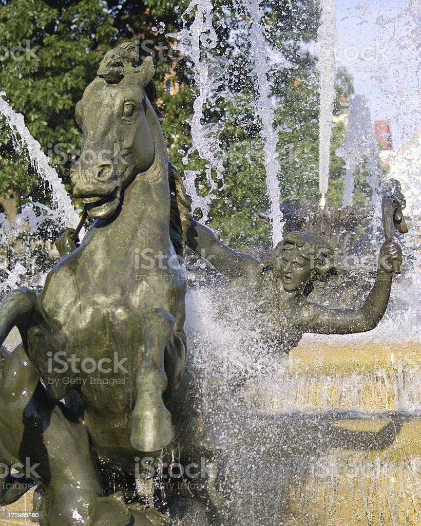 JC Nichols Fountain, Kansas City stock photo