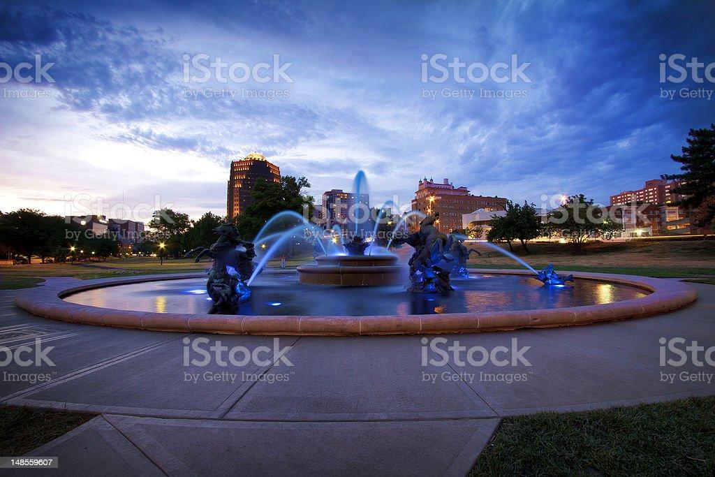 J.C. Nichols Memorial Fountain stock photo