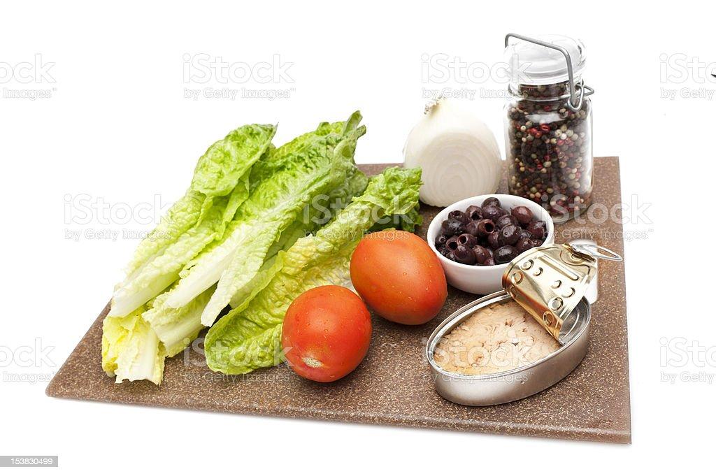 Nicoise Salad Ingredients stock photo