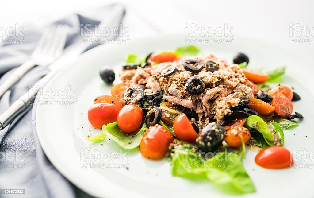 Nicoise salad stock photo