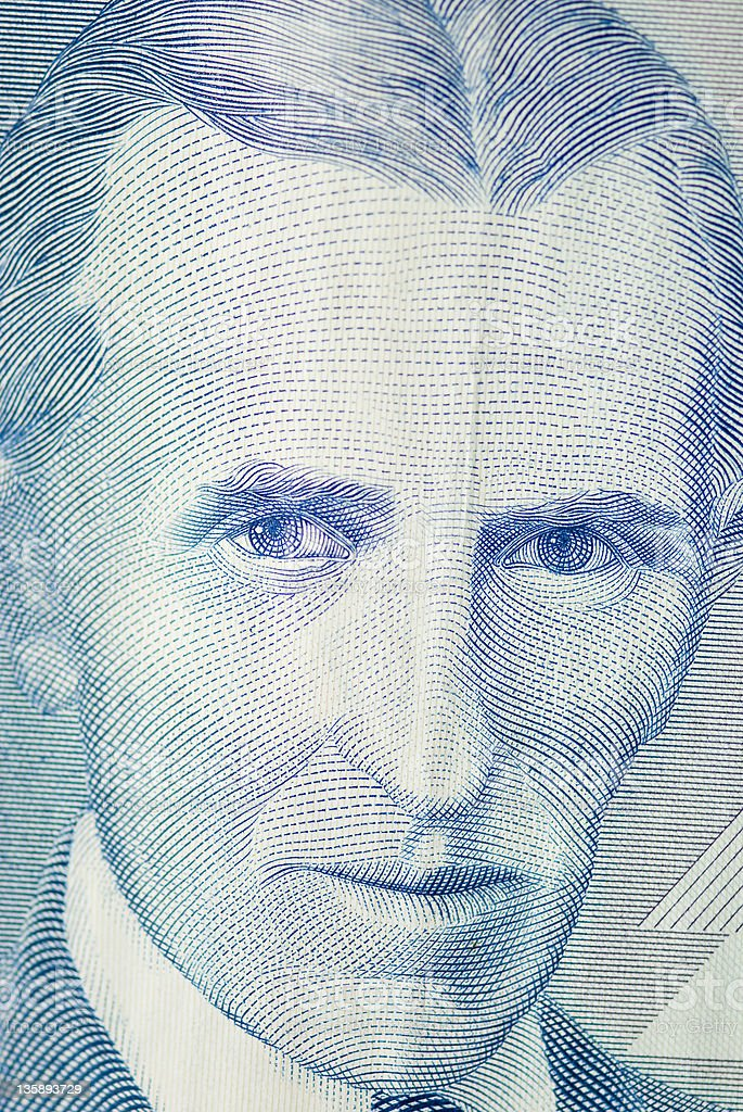Nicola Tesla Inventor Portrait royalty-free stock photo