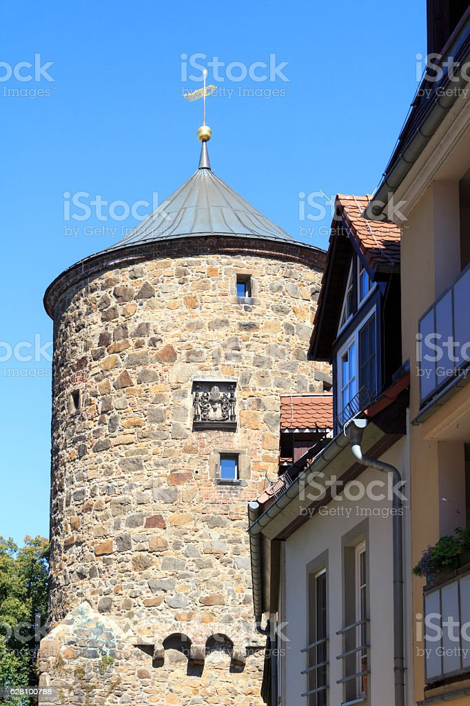 Nicolaiturm in Bautzen stock photo
