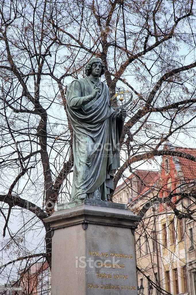 Nicolaus Copernicus monument. Torun, Poland stock photo