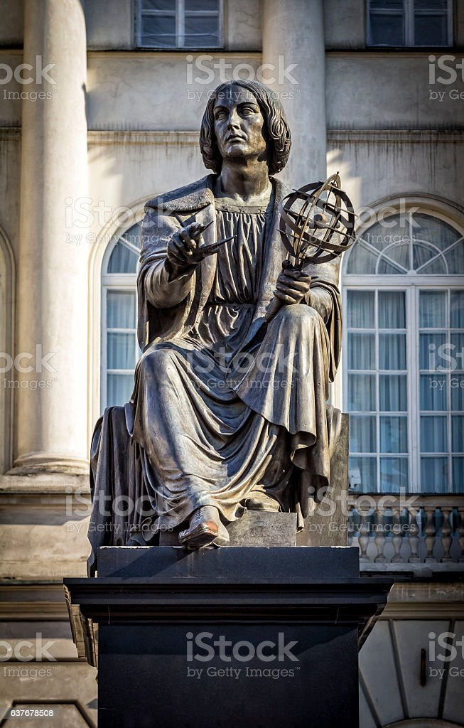 Nicolaus Copernicus Monument, Warsaw stock photo