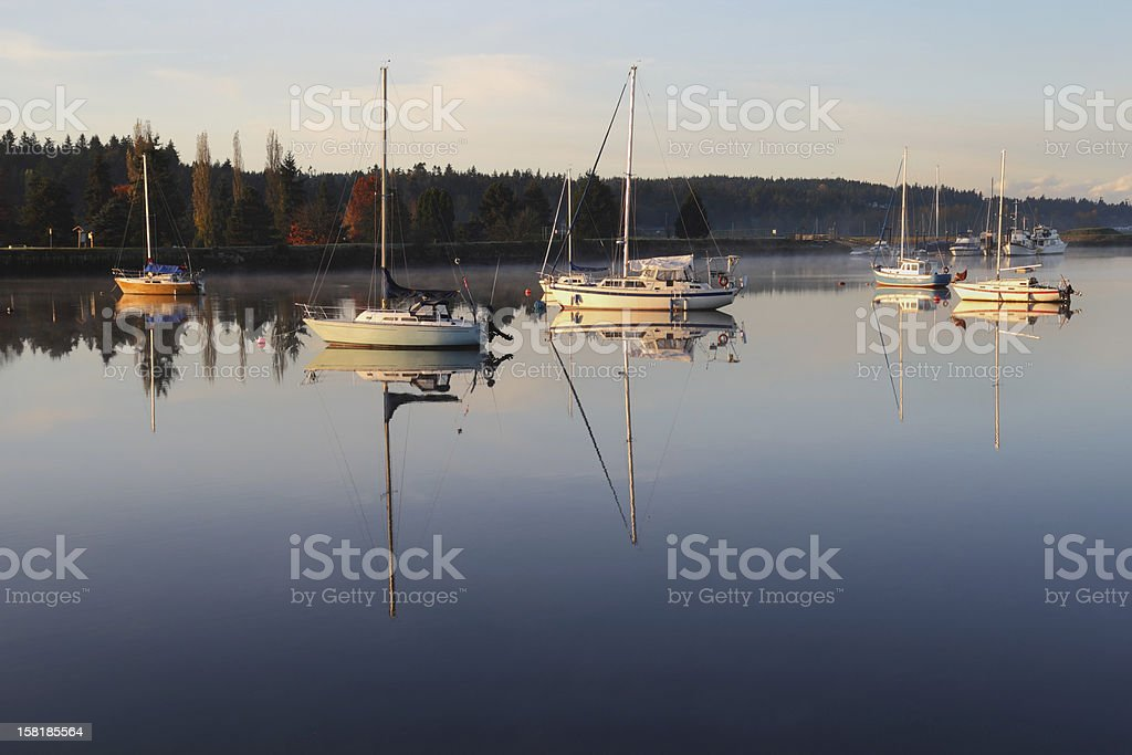 Nicomekl River Anchorage, British Columbia stock photo