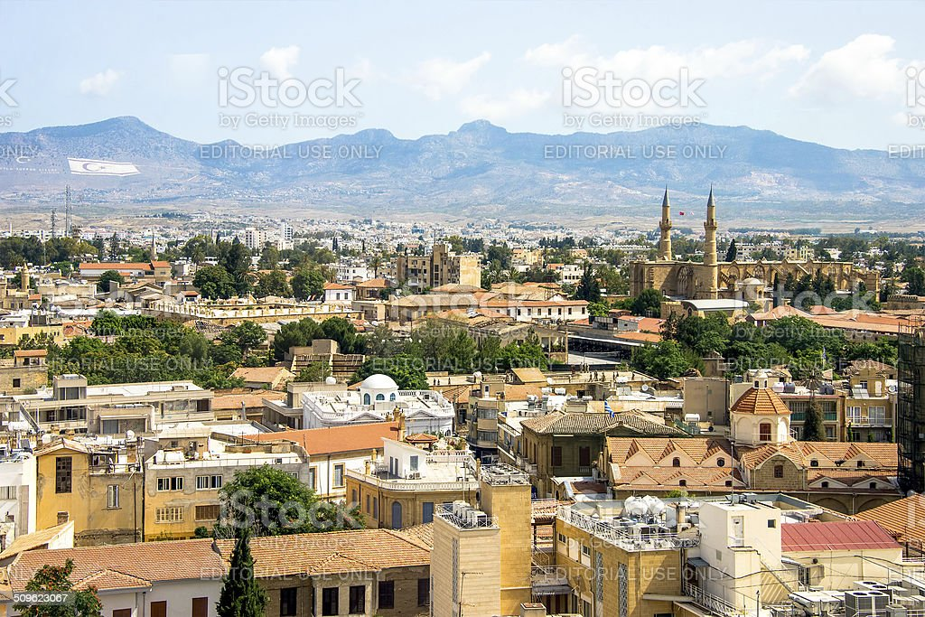 Nicosia aerial view stock photo