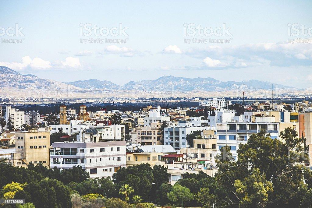 Nicosia view. stock photo