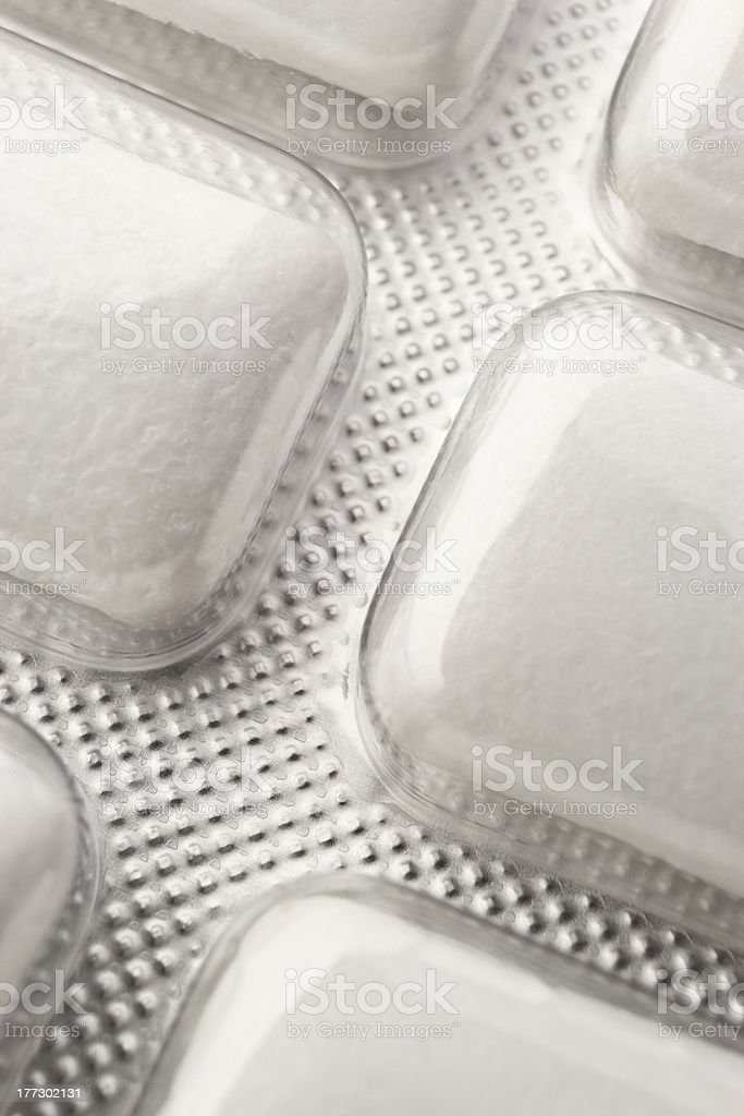 Nicotine gum macro royalty-free stock photo