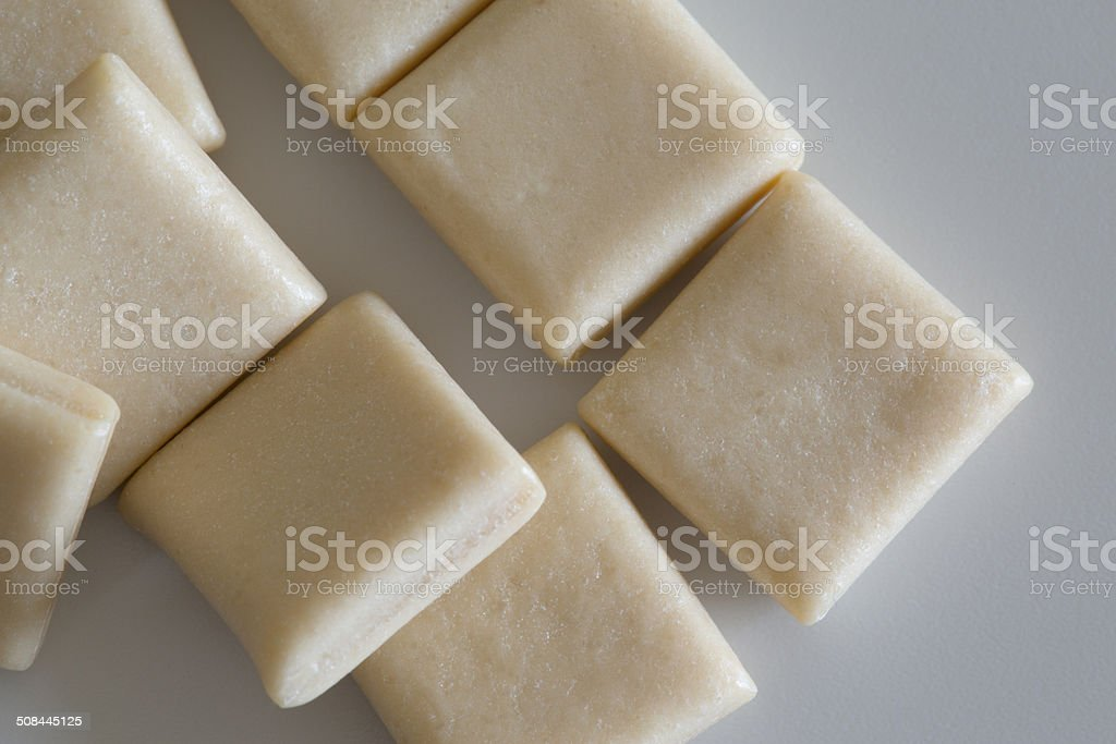 Nicotine gum stock photo