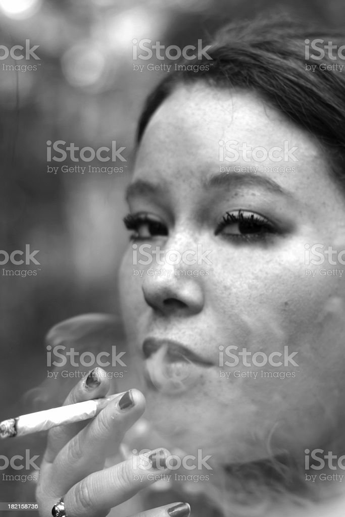 Nicotine Queen royalty-free stock photo