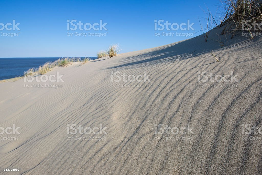 Nida, Klaipeda, Lithuania, dune, desert, sand, Kurshskaya stock photo