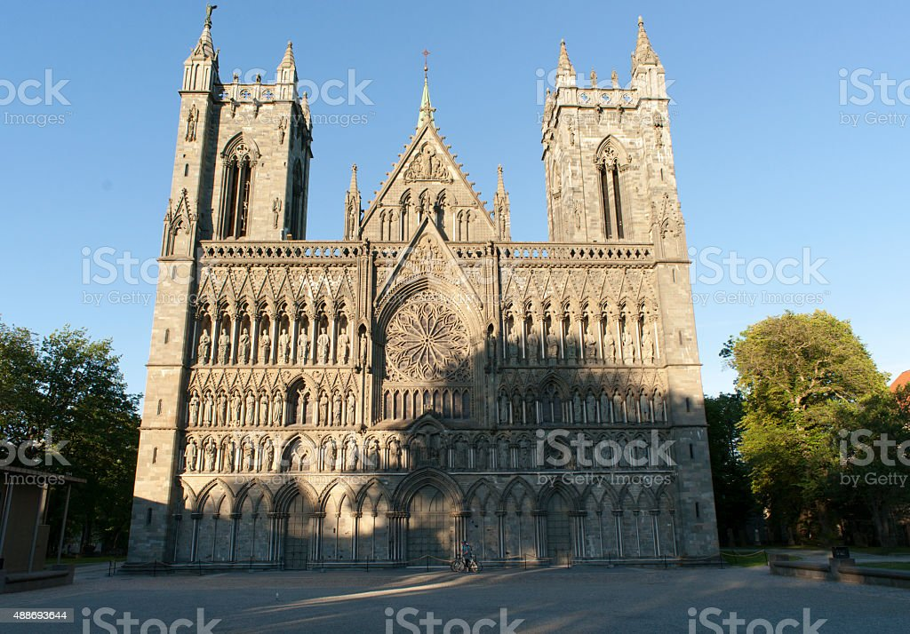 Nidaros Cathedral, Trondheim, Norway stock photo