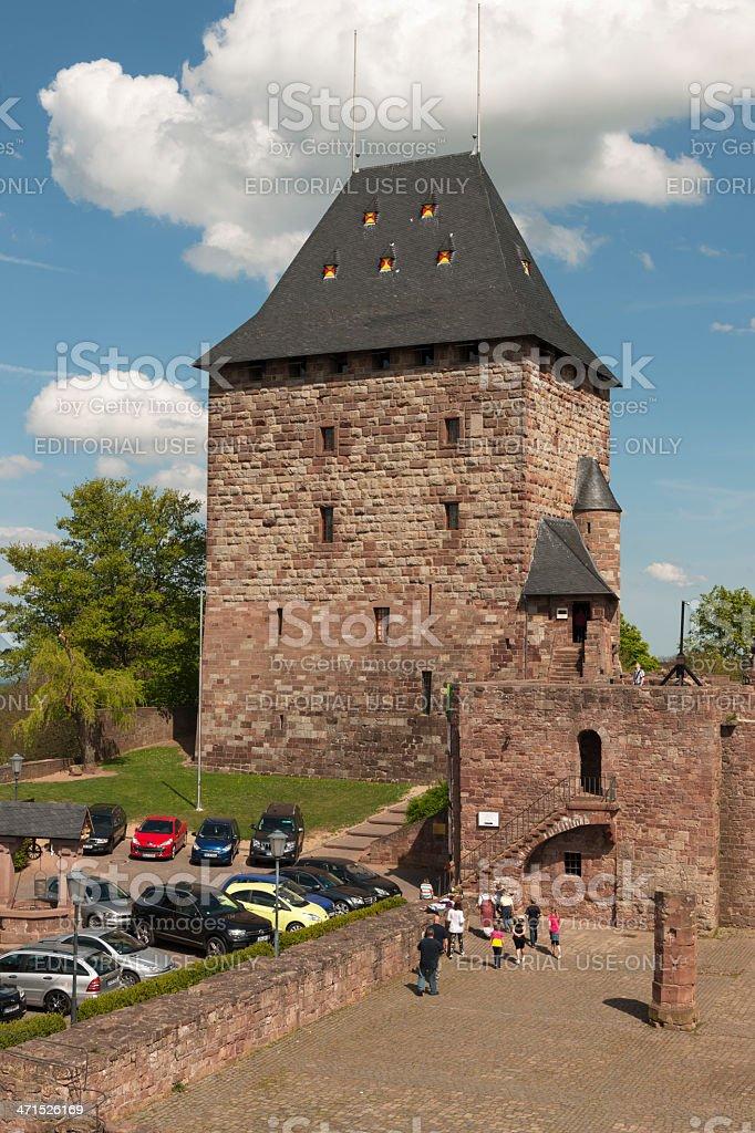 Nideggen Castle stock photo