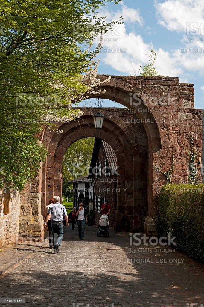 Nideggen Castle royalty-free stock photo