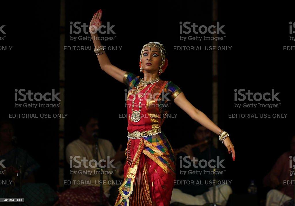 Nidhi Ravishankar - Bharatanatyam stock photo