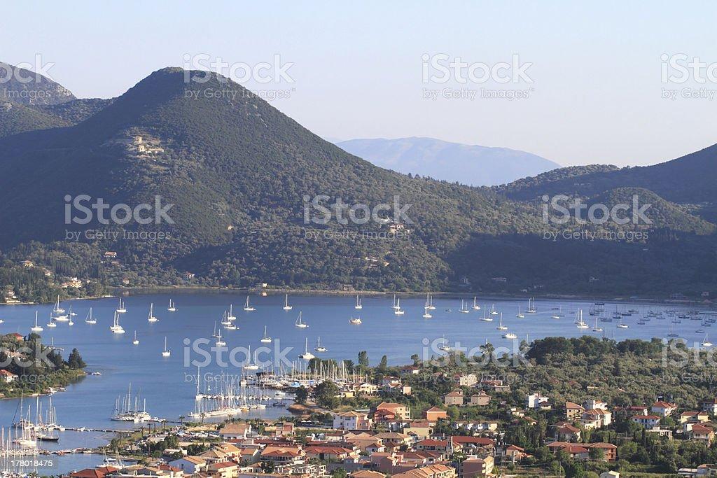 Nidri in Lefkada island, Greece stock photo