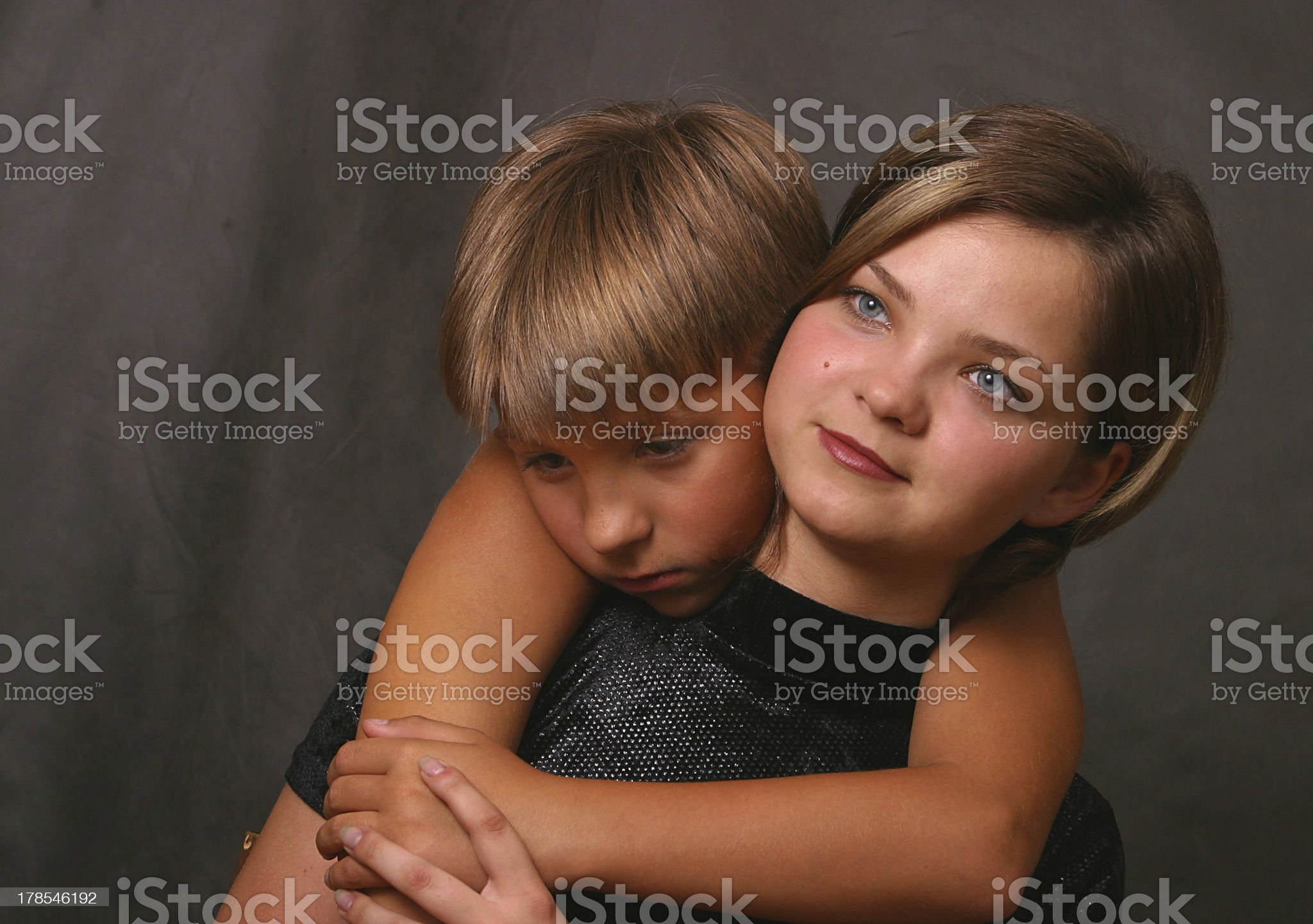niece and the aunt royalty-free stock photo