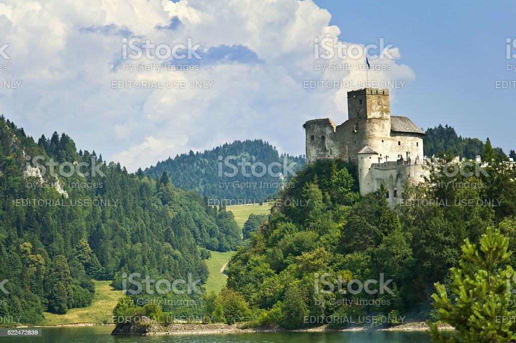 Niedzica castle and Czorsztyn lake stock photo