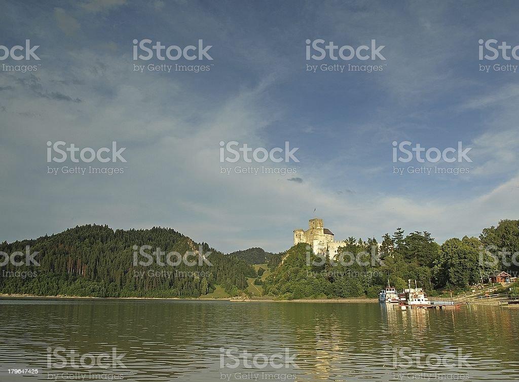 Niedzica castle in Poland stock photo