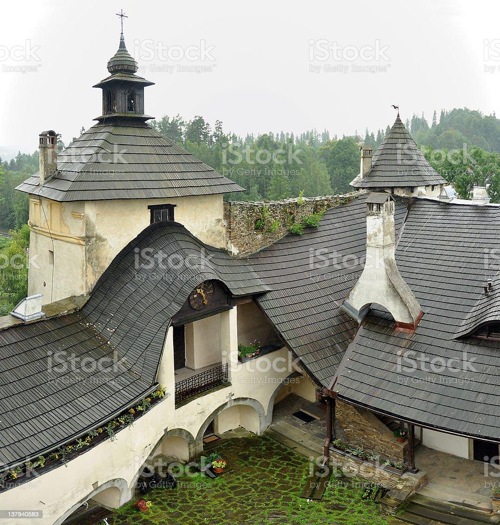 Niedzica castle interior stock photo