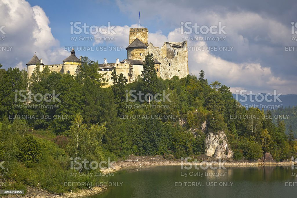 Niedzica Castle on the hill, Poland royalty-free stock photo