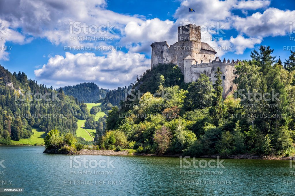 Niedzica Castle on the hill, Poland stock photo