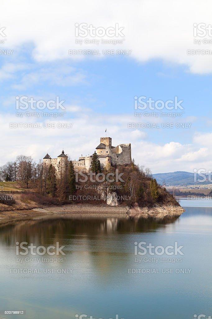 Niedzica Castle on the lake Czorsztyn in Poland, Europe stock photo