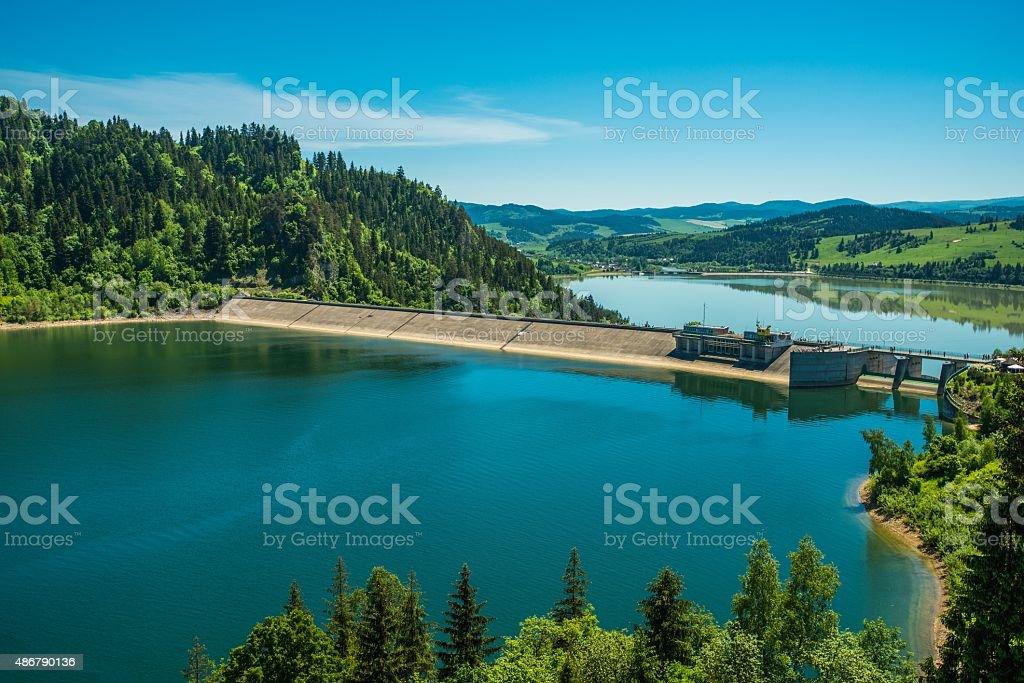 Niedzica Czorsztyn Dam stock photo