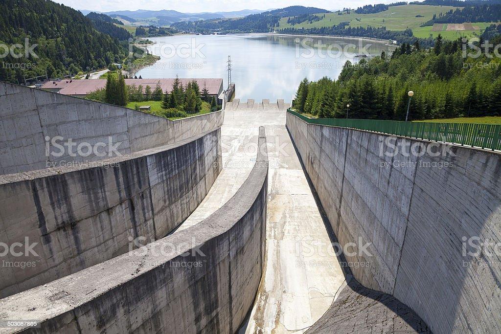 Niedzica hydroelectric power station stock photo