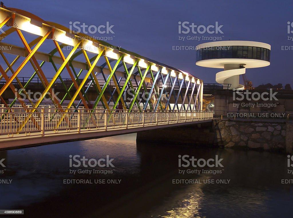 Niemeyer Center Bridge royalty-free stock photo