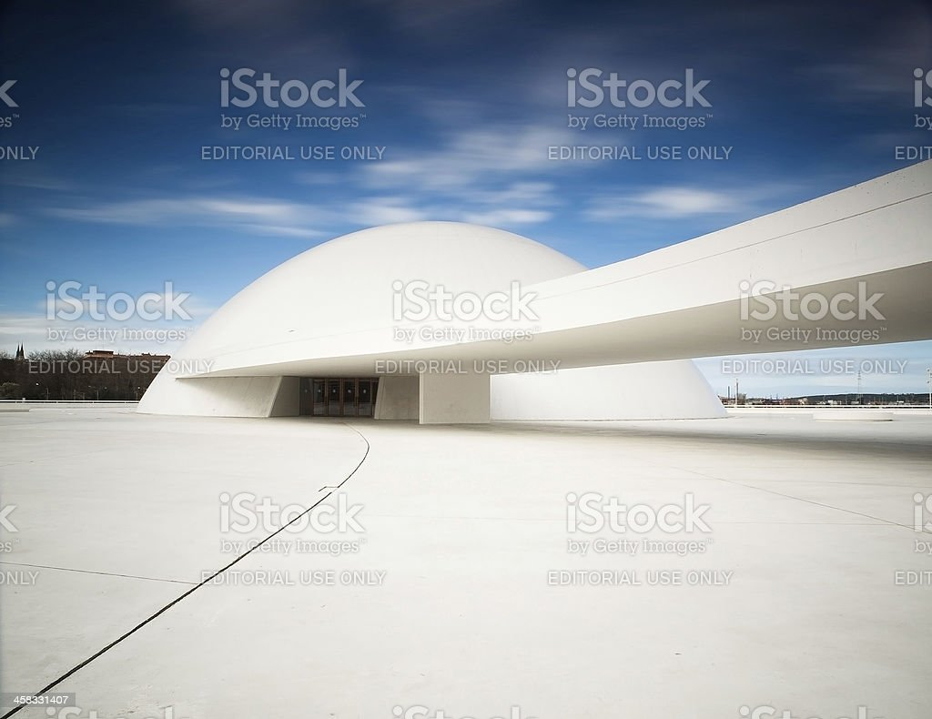 Niemeyer Center building in Aviles, Spain. stock photo