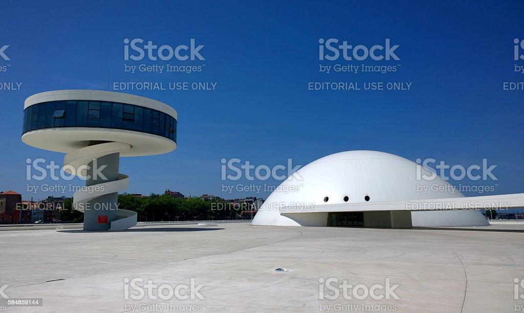 Niemeyer Center in Aviles, Spain stock photo
