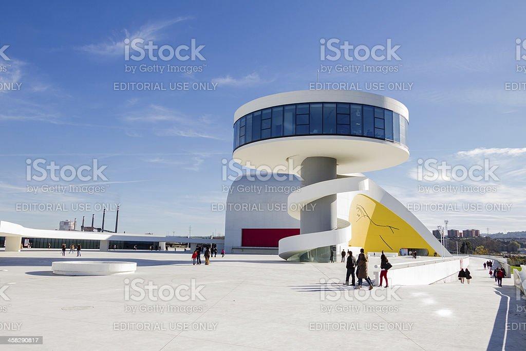 Niemeyer Cultural Center in Aviles, Spain stock photo