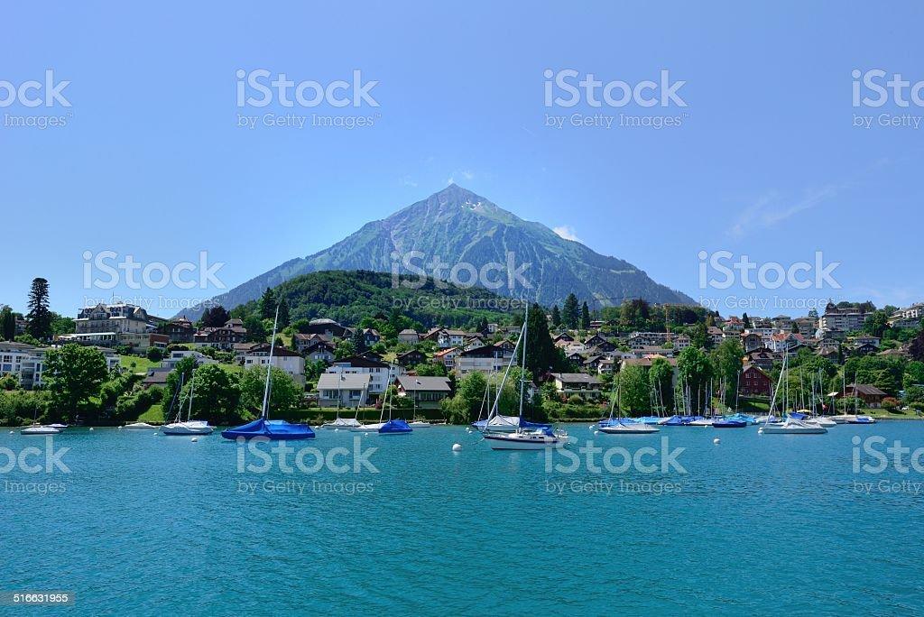 Niesen-'Pyramid' mountain in Switzerland 01 stock photo