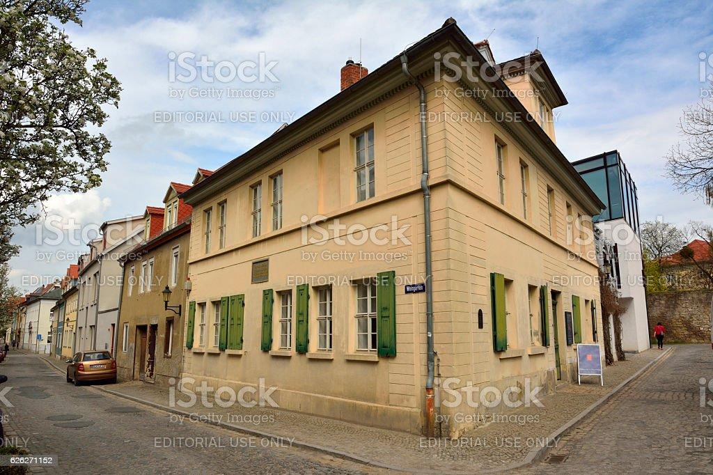 Nietzsche Haus in Naumburg stock photo