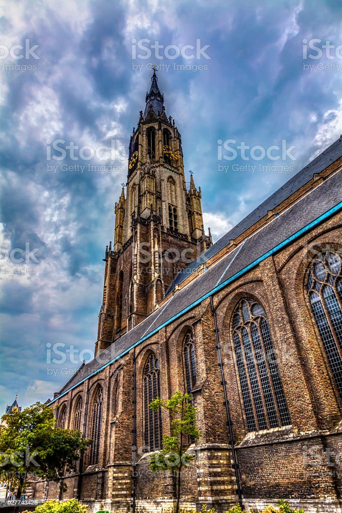 Nieuwe Kerk cathedral stock photo