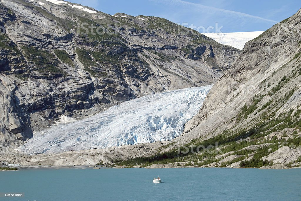 Nigardsbreen glacier in Western Norway stock photo