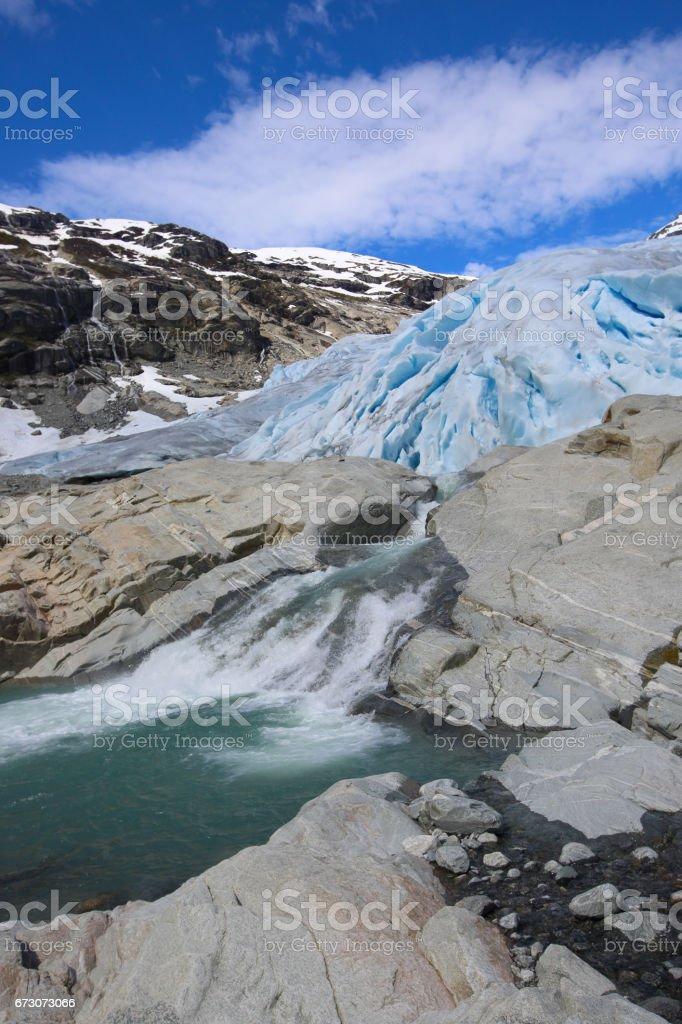 Nigardsbreen glacier, Norway stock photo